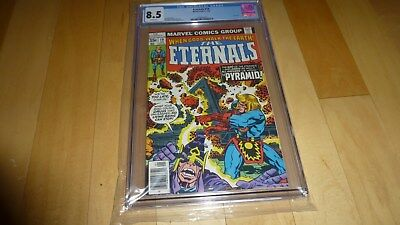 The Eternals 19 CGC 8.5 (1978, Marvel Comics) WHITE Pages tough last issue Kirby