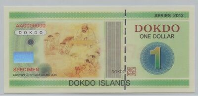 [$] Dokdo, Korea, 2012, One Dollar, Gem UNC