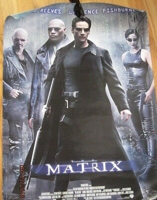 """ORIGINAL MATRIX 1999 MOVIE POSTER~Double Sided 27x40""""~rolled, nice condition"""