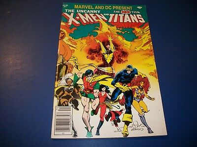 Marvel and DC Presents The X-men and New Teen Titans #1 Rare 3rd Deathstroke
