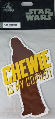 Disney Parks Star Wars Chewie is my Copilot Car Magnet Decal Chewbacca Solo NEW