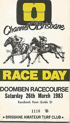 1983 Doomben Racebook. Channel O Cup.( Slipper Day )
