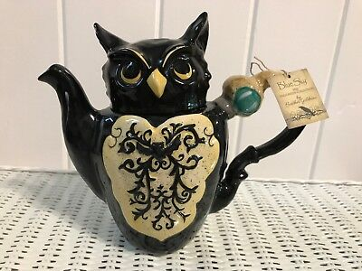 Blue Sky THE OWL'S CLAW TEAPOT by Heather Goldminc HALLOWEEN