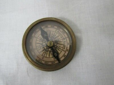 Vintage Brass Compass Marked Stanley London Pocket Compass 1885