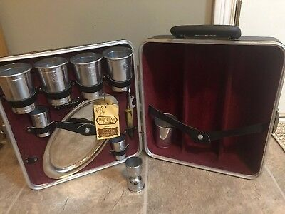 Vintage Trav L Bar Executair 707 Portable Travel Bar