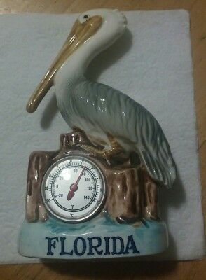 1950s JAPAN pelican pottery figurine GF Co. thermometer