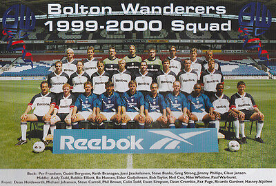 Bolton Wanderers Football Team Photo>1999-2000 Season
