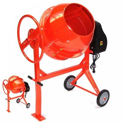 55447 Portable Cement Concrete Mixer 140L Mortar Mixer with Stand