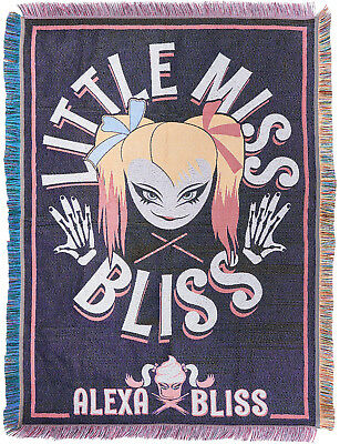 WWE ALEXA BLISS Little Miss Bliss TAPESTRY BLANKET DECKE ÜBERWURF