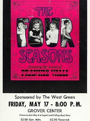 "Four Seasons Grover Centre 16"" x 12"" Photo Repro Concert Poster"