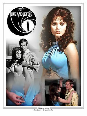 "Madeline Smith James Bond 007 Montage Artwork Tribute 16"" x 12"" Photo Poster"