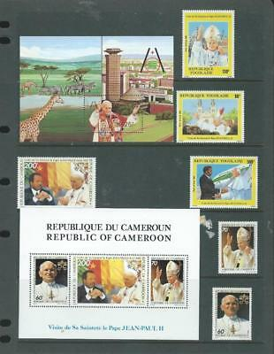 Cameroon-Togo Africa mint items, Papal visits, sets & MS Nice![961]