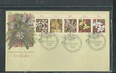 Christmas Island 1994 FDC Orchids, special postmark (955)