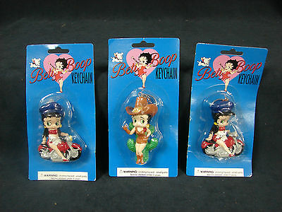 1995 Betty Boop Key Chain Lot PVC Figure Dorda Toys King Features New