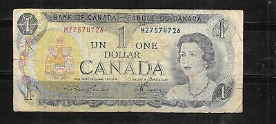 CANADA #85a 1973 VERY GOOD CIRC DOLLAR OLD BANKNOTE PAPER MONEY CURRENCY  NOTE