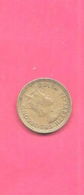Hong Kong Km29.1 1965 Vf-Very Fine-Nice Old Vintage 5 Cents Coin