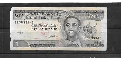 ETHIOPIA #46c 1995 BIRR VG CIRC OLD BANKNOTE PAPER MONEY CURRENCY BILL NOTE
