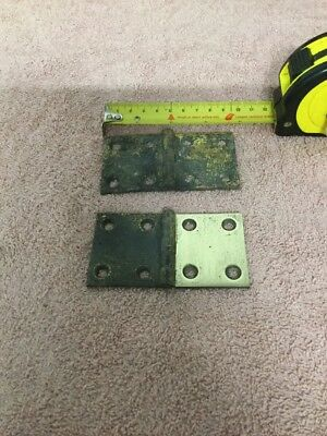 X2 Hinges Solid Brass Antique  Reclaimed, Old, Original, Salvaged