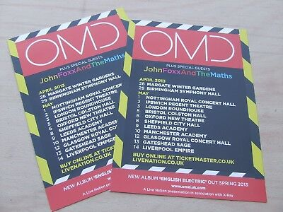 OMD....English Electric Tour Flyer A5 promo... in a great condition x2