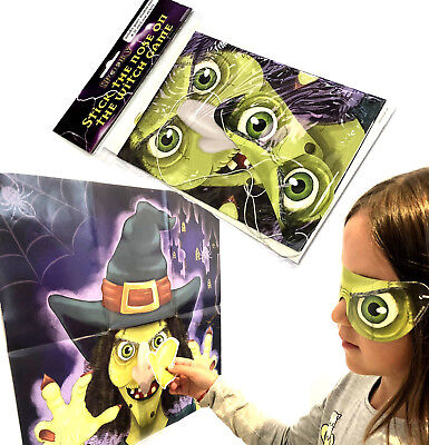 Stick The Nose On The Witch Halloween Game Spooky Kids Childrens Party Activity
