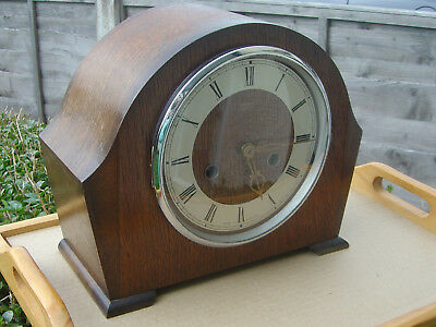 SMITHS ENFIELD  STRIKING MANTEL CLOCK WITH KEY WORKS vgc