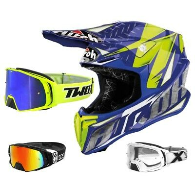 Airoh Crosshelm Twist Motocross Enduro Helm Iron blau TWO-X Rocket Crossbrille