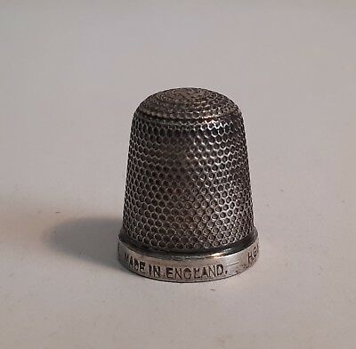 Antique c1900 Sterling Silver Thimble. THE SPA. HG&S Henry Griffiths, Leamington