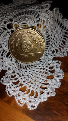 AA X (10 years) Sobriety Recovery Coin Token Medallion