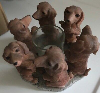 Dachshund Candle Holder True Friends Continental Creations