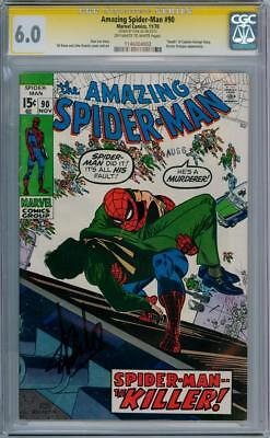 Amazing Spider-Man #90 Cgc 6.0 Signature Series Signed Stan Lee Death Cpt Stacy