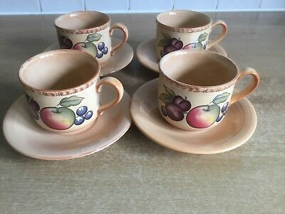 Hornsea Yeovil 4 x Cups and Saucers