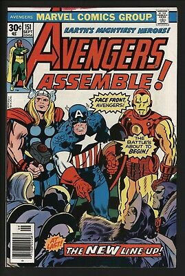 Avengers #151 New Line-Up George Perez Art Jack Kirby Cover - White Pages