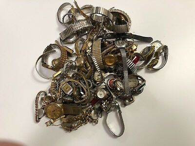 Huge Lot of Vintage & Antique Wrist Watches & Movements for Parts or Repair