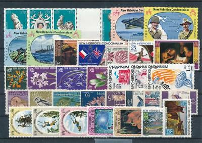 [G114993] New Hebrides good Lot very fine MNH Stamps