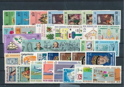 [G114994] New Hebrides good Lot very fine MNH Stamps