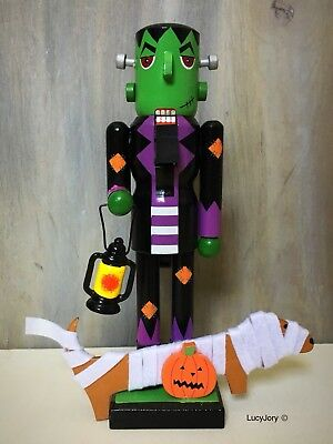 Dachshund Halloween Frankestein Nutcracker and his Mummy Dog