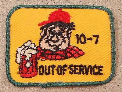 Vintage  Embroidered Patch 10-7 10 7 Out of Service