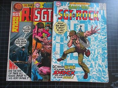 Dc Our Army At War #196,206,231 Sgt Rock