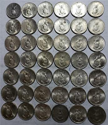 Philippines, 10 Centavos 1941-1945, 42 Pieces, Many Uncs, 2.02 Ounces Silver