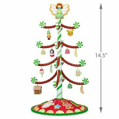 2018 Hallmark Season's Treatings Miniature Tree With 12 Mini Ornaments
