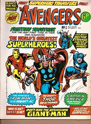 Avengers # 4 Strange Tales 115 Marvel Silver Age British version COMIC BOOK 1973