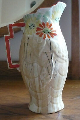Art Deco Price Bros Embossed and hand painted jug