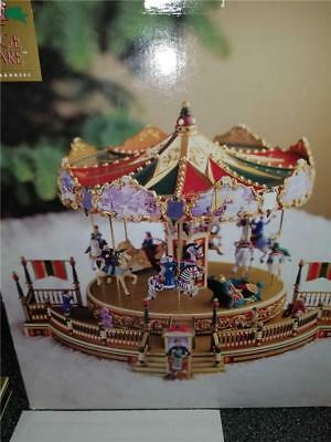 1997 mr christmas holiday around the carousel lighted music moving decoration