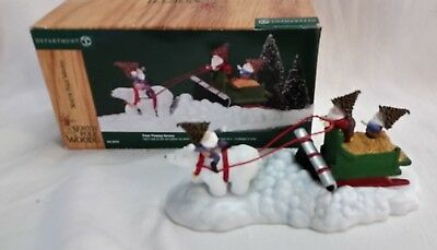Dept. 56 North Pole Woods Accessory - Polar Plowing Service- In Box