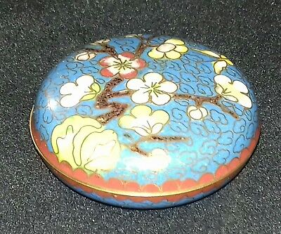 Chinese Cloisonné Pill Box Great Condition
