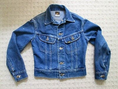 Vintage Lee Rider Denim Jacket Youth size 12, made in USA