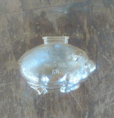 Save With MARATHON The OHIO OIL CO. Antique Carnival Glass Bank VEP Gas Station