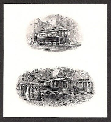 Engravings - Two Intalgio/Engraved Vignettes - Trolley's - CU - Flawless