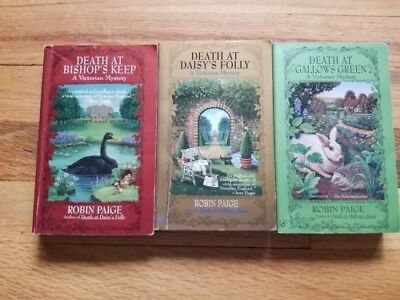 Robin Paige cozy Victorian historical mystery 3 book lot paperback