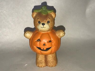 1994 Lucy & Me Teddy Bear Figurine Halloween Pumpkin Body Costume